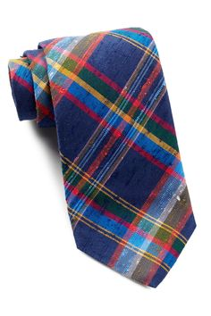 Grinstead Check Silk Tie by THOMAS PINK.