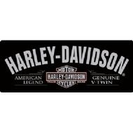 Harley Davidson Motorcycles Sign - Ande Rooney Harley Davidson Embossed Tin Sign Collection utilizes lithographed on tin process, this makes for a more detailed and inticate sign. The result is a repr