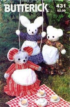 Butterick 431 Vintage Sewing Pattern Stuffed Rabbit Mouse Clothes Pajama Bag Butterick,http://www.amazon.com/dp/B005HAZLEI/ref=cm_sw_r_pi_dp_umcctb041EVNTNDY