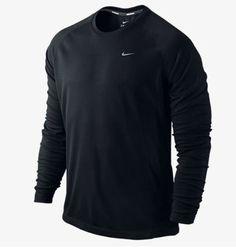 a9df4bfb NWT Nike Running Men's Miler Long Sleeve Dri-FIT Shirt Black S L XL 596668-
