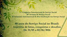 Vem aí o V Congresso Internacional de Serviço Social da Unesp de Franca SP. Informações de data e local do evento para participação de Assistentes Sociais