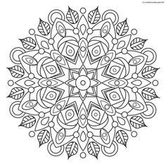 Focus Wellness Mandala No. 7 for coloring