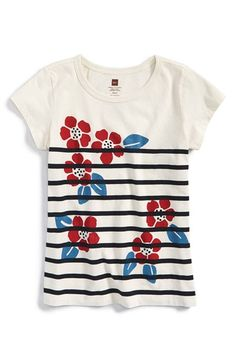 Tea Collection 'Nautical Blooms' Floral Graphic Tee (Toddler Girls, Little Girls & Big Girls) available at #Nordstrom