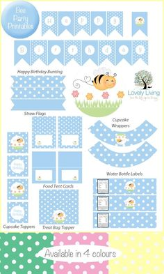 Free Bee Baby Shower Ideas