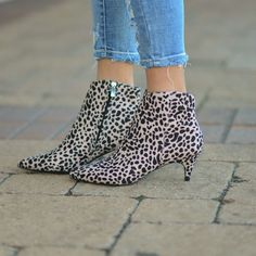 2c6a726852 Get Right To The Point Leopard Boots from Cousin Couture. Leopard Boots,  Kitten Heels