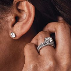 Stay strong and brilliant.  @ritani Stay Strong, Diamond Earrings, Jewelry, Style, Fashion, Jewellery Making, Moda, Stylus, Jewelery