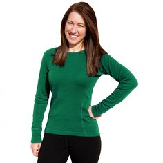 Woolx - 100% Merino wool clothing and base layer - the midweight merino wool crewneck top is the perfect thermal shirt for skiing and winter hiking! Exceptionally warm and incredibly soft! | http://www.woolx.com/
