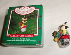 1986 Hallmark Thimble Partridge Ornament 9th in Series With Box QX4066
