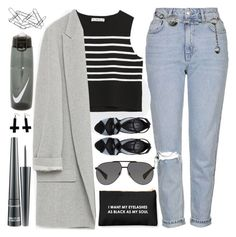 """""""I Lost My Place in Line..."""" by sweet-jolly-looks ❤ liked on Polyvore featuring Topshop, Zara, Dolce&Gabbana, Versace, MAC Cosmetics, Chicnova Fashion, Home Decorators Collection, NIKE, Spring and black"""