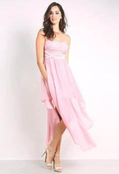 Chiffon Strapless Dress | Shop Maxi at Papaya Clothing