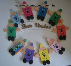 Kids Crafts, New Year's Crafts, Diy Arts And Crafts, Paper Crafts, Class Decoration, School Decorations, Preschool Decor, Art Drawings For Kids, Montessori Activities