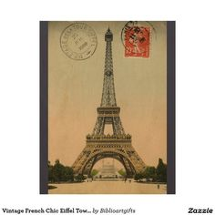 Shop Eiffel Tower Paris France vintage travel poster created by kikiwayVintage. French Chic, French Vintage, Vintage Paris, Paris Souvenirs, Paris Canvas, Paris Poster, Art Nouveau Poster, Vintage Art Prints, Vintage Travel Posters