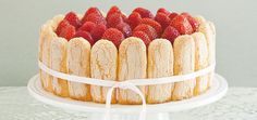 Strawberry Charlotte  Recipes   Ricardo.  This one is simpler and closer to the one I make.