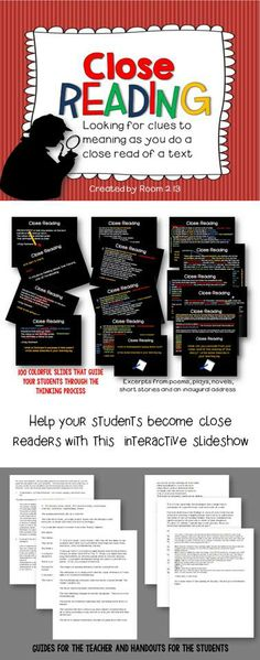 Guide your students through the close reading process, using guided release.