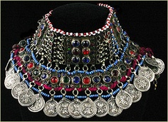 Afghani Kuchi tribal choker... WANT!