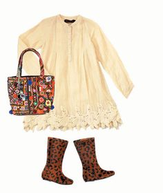 Cream dress from Antik Batik