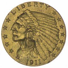 2,5 DOLLARS 1911 INDIANERKOPF