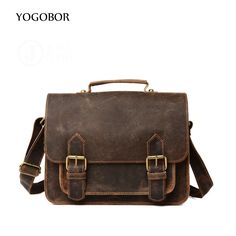 138.00$  Watch here - http://ali2ir.shopchina.info/1/go.php?t=32800593263 - YOGOBOR Crazy Horse Genuine Leather Bag Casual Men Handbags Men Crossbody Bags Men's Travel Bag Tote Laptop Briefcases men bags  #buymethat