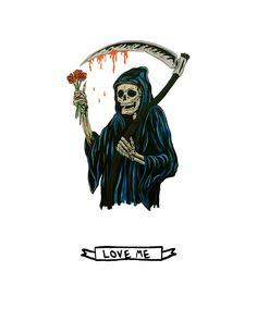 "little grim reaper ""love me"""