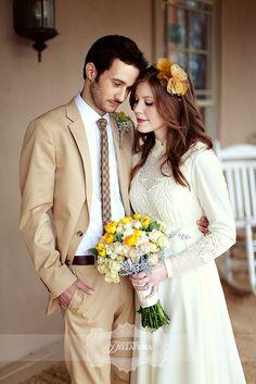 #wedding #dress #sleeves Bride wore her mother's long-sleeve wedding dress
