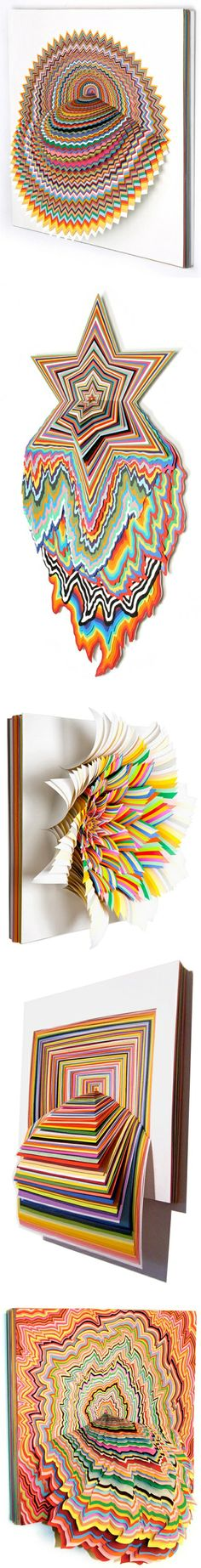 Jen Stark Modern Paper Art.