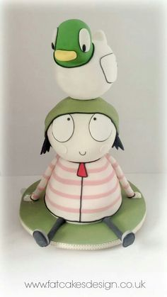 It's CBeebies Sarah & Duck! First Birthday Cakes, Birthday Fun, 2nd Birthday Parties, Cbeebies Cake, Sarah Duck, Duck Cake, Second Birthday Ideas, Character Cakes, Novelty Cakes