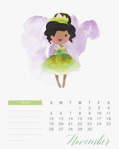 Calendario 2017 de las Princesas Disney para Imprimir Gratis. | Ideas y material gratis para fiestas y celebraciones Oh My Fiesta!