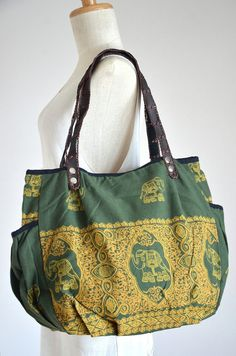 Women Bag Boho Chic Bag in Jade Tribal Ethnic Gypsy by Dollypun