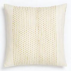 Embroidered Dot Silk Pillow Cover - Horseradish Family Room
