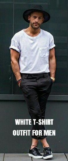 How to wear White t-shirt for men. 12 cool OUTFIT ideas.