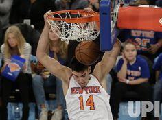 New York Knicks Nikola Pekovic dunks the basketball