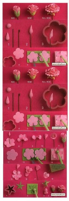 How to flowers, #fondant #cake #decorating #tutorial