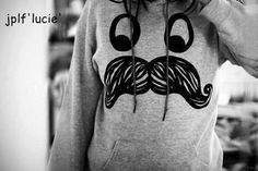 mustache sweatshirts! We should get matching ones right?? @emily
