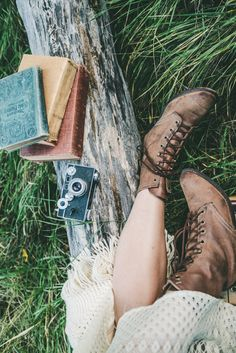 #Cozy #fallfashion #style and good reads.