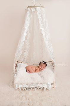 Photography Prop Lace Canopy - Newborn Photography Prop, Lace Canopy, Cream, Chiffon, Bed Canopy, Girl, Vintage