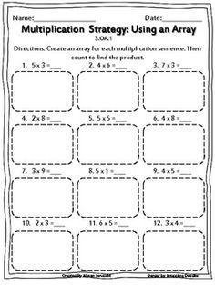 Image result for arrays worksheets | MULTIPLICATION/DIVISION ...