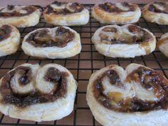 Caramelised Onion Chutney and Blue Stilton Palmiers