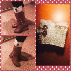 Crochet boots caffs