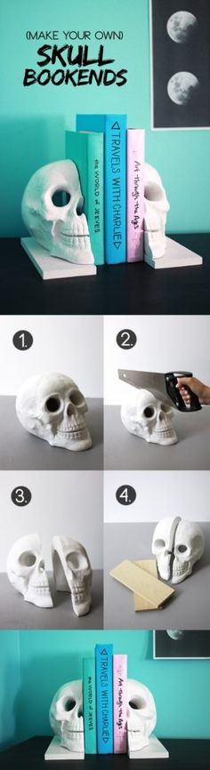With Halloween just around the corner, we thought it's about time we take look into creepy crafts, such as these DIY Skull projects. These DIY skull ideas will halloween projects Diy Halloween, Halloween Skull, Halloween Projects, Holidays Halloween, Vintage Halloween, Halloween Decorations, Craft Projects, Halloween Costumes, Craft Ideas