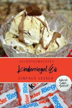 Kinderriegel-Eis Children's bars as ice cream - a successful combination that makes you happy! Best Apple Crisp, Apple Crisp Recipes, Summer Desserts, Easy Desserts, Summer Drinks, Baby Food Recipes, Sweet Recipes, Trail Mix Recipes, Easy Summer Meals