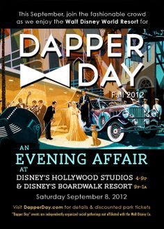 Dapper Day at Walt Disney World - Why didn't I know about this? Dapper is one of my favorite words and Disney World is one of my homes! Disney Time, Disney World Trip, Disney World Resorts, Disney Fun, Disney Magic, Disney Parks, Florida Events, Dapper Day, Favorite Words