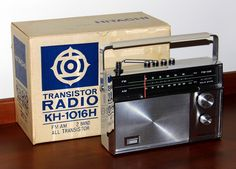 Vintage Hitachi Portable Transistor Radio, Model FM-AM Bands, 10 Transistors, Made In Japan, Circa 1969 Love Radio, Retro Radios, Antique Radio, Transistor Radio, Made In Japan, Vintage Advertisements, Speakers, Pocket, Cool Stuff