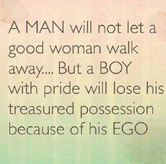The difference between a Man and a Boy.