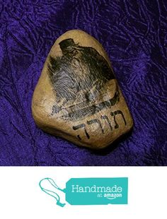 Judaic Rabbi Torah River Rock Stone Hebrew Art Work Judaica OOAK Collectible Gift from Hebrew Art Work http://www.amazon.com/dp/B0186NK5SE/ref=hnd_sw_r_pi_dp_BU2Gwb0MKFA8E #handmadeatamazon
