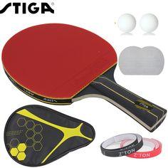 Marca de Calidad Mesa de ping pong de goma del Ping-Pong Raqueta raqueta Dobles espinillas rápido ataque y bucles o tipo chop jugador