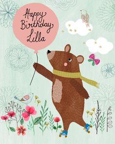 Happy Birthday Lilla By Rebecca Jones