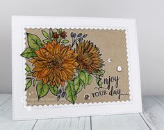 Hi and welcome! Today's card was made for Darnell's latest NBUS challenge . This challenge has the optional twist of coloring on kraft. I...