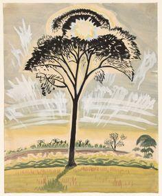 CHARLES BURCHFIELD The Sun Through the Trees (1917)
