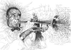 Buy Louis Armstrong by Vince Low on The Artling. Get this Work by Vince Low now! Louis Armstrong, Celebrity Drawings, Celebrity Portraits, Photoshop, Drawing Sketches, Pencil Drawings, Sketch Art, Sketching, Vince Low