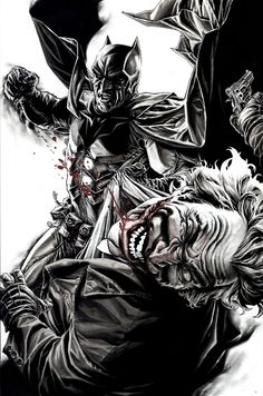 Batman vs Joker - Lee Bermejo (2011)www.comicaddictz.com the Hottest Comic news , Artist and Cosplay website !!